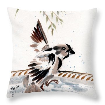Water Wings Throw Pillow