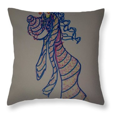 Water Woman Throw Pillow
