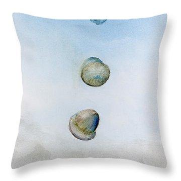 Watercolor Acorn Falls Throw Pillow by Lenora  De Lude