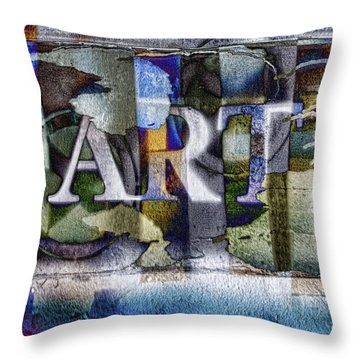 Watercolor Art Sign Throw Pillow