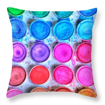 Watercolor Delight Throw Pillow by Heidi Smith