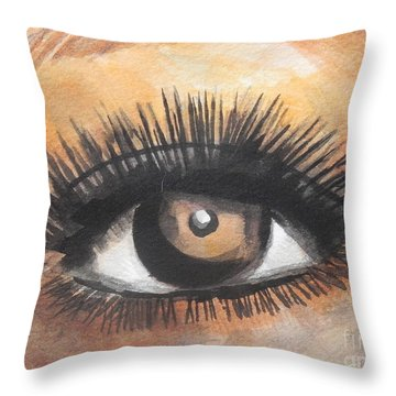 Watercolor Eye Throw Pillow