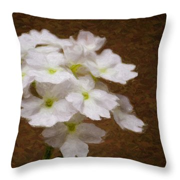 Watercolor Of Daisies Throw Pillow