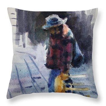 Watercolor Sketch Throw Pillow