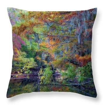 Watercolors Throw Pillow by Lana Trussell