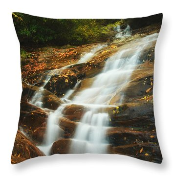 Waterfall @ Sams Branch Throw Pillow