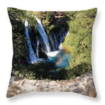 Throw Pillow featuring the photograph Waterfall And Rainbow 3 by Debra Thompson