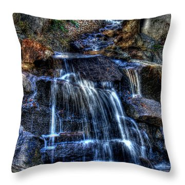 Waterfall Throw Pillow by Andy Lawless