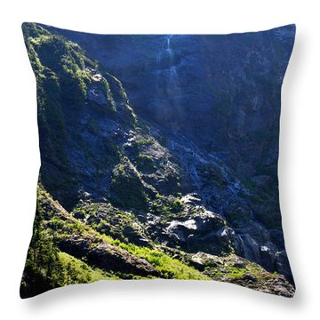 Throw Pillow featuring the photograph Waterfall At 22 by Rebecca Parker