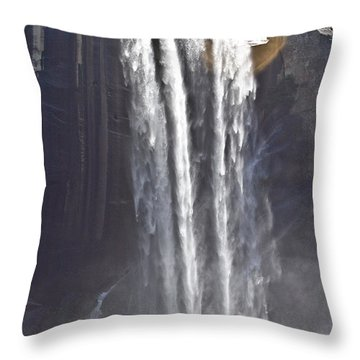 Waterfall Throw Pillow by Brian Williamson