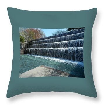 Throw Pillow featuring the photograph Waterfall Heaven by Emmy Marie Vickers