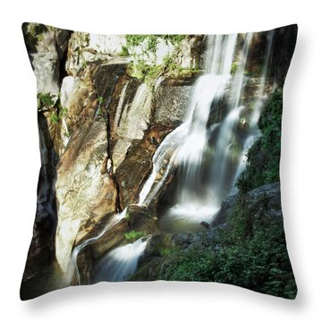 Waterfall I Throw Pillow by Marco Oliveira