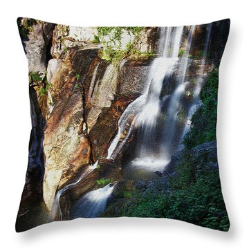 Waterfall II Throw Pillow by Marco Oliveira