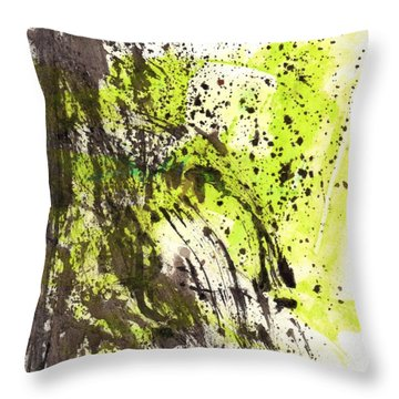 Waterfall In Abstract Throw Pillow by Lesley Fletcher