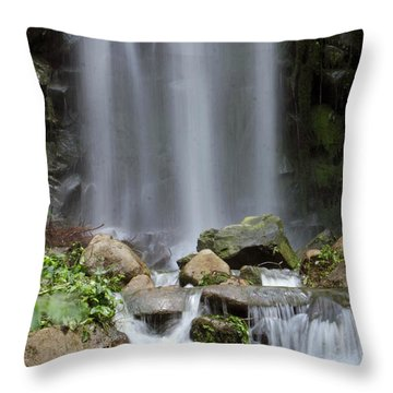 Throw Pillow featuring the photograph Waterfall In Singapore by Shoal Hollingsworth