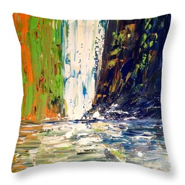Waterfall No. 1 Throw Pillow