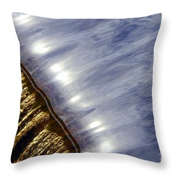 Waterfall Throw Pillow by Olivier Le Queinec