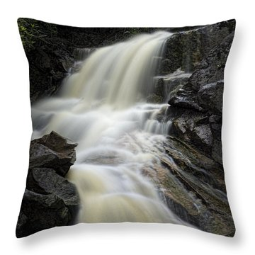 Waterfall On Big Run River Stream West Virginia Throw Pillow by Dan Friend