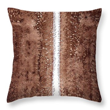 Waterfall Original Painting Throw Pillow by Sol Luckman