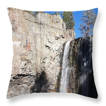 Throw Pillow featuring the photograph Waterfall Rainbow by Julia Ivanovna Willhite