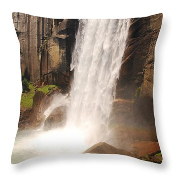 Waterfall Rainbow Throw Pillow by Mary Carol Story