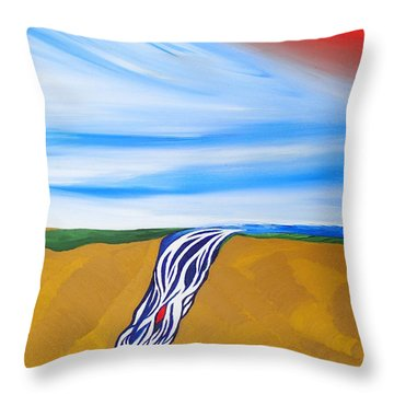 Waterfall Throw Pillow by Robert Nickologianis