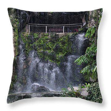 Waterfall Throw Pillow by Sergey Lukashin