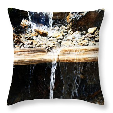 Waterfall Steps Throw Pillow