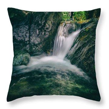 Waterfall Throw Pillow by Stelios Kleanthous