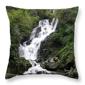 Waterfall Throw Pillow by Tim Townsend