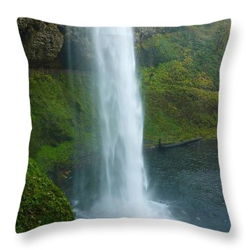 Waterfall View Throw Pillow