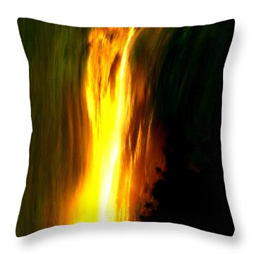 Throw Pillow featuring the painting Waterfalls By Light by Bruce Nutting