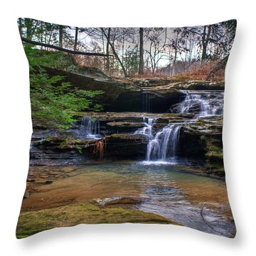 Waterfalls Cascading Throw Pillow