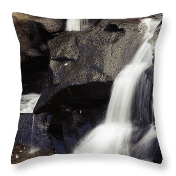 Waterfalls Throw Pillow by Les Cunliffe