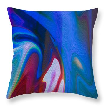 Waterfalls Of Desire Throw Pillow by Omaste Witkowski
