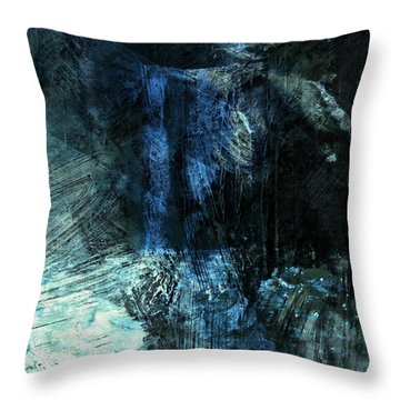 Throw Pillow featuring the digital art Waterfalls Of The Forgotten by Jean Moore