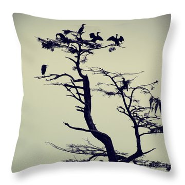 Waterfowl Tree - Hipster Photo Square Throw Pillow
