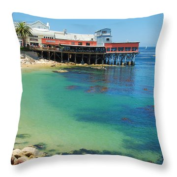 Waterfront At Cannery Row Throw Pillow