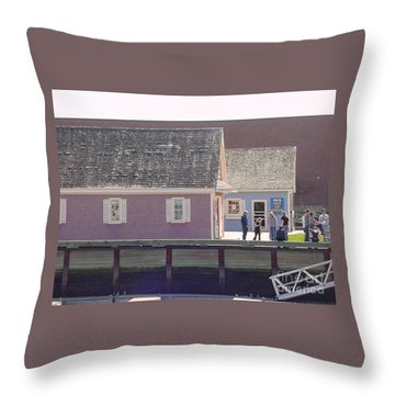 Waterfront Colors Throw Pillow