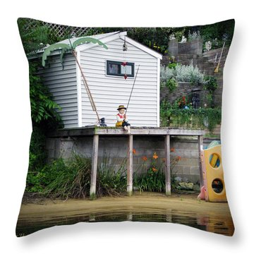 Waterfront Decor Throw Pillow by Brian Wallace