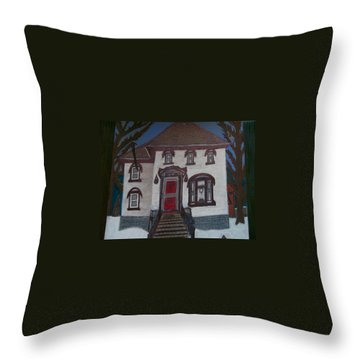 Historic 7th Street Home In Menominee Throw Pillow