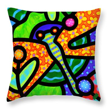 Watergarden Throw Pillow