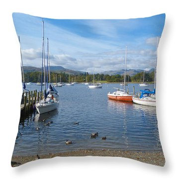 Throw Pillow featuring the photograph Waterhead - Ambleside - English Lake District by Phil Banks