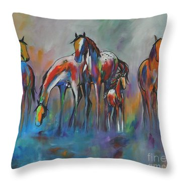 Watering Hole 2 Throw Pillow