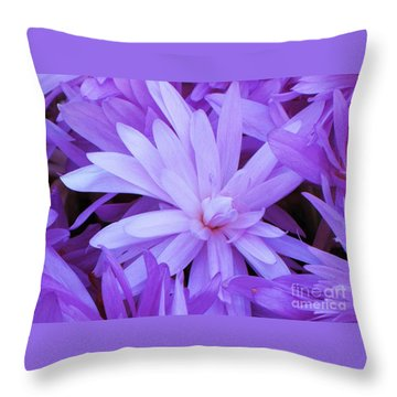 Waterlily Crocus Throw Pillow by Michele Penner