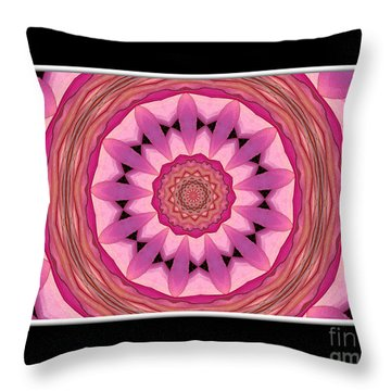 Throw Pillow featuring the photograph Waterlily Flower Kaleidoscope 3 by Rose Santuci-Sofranko