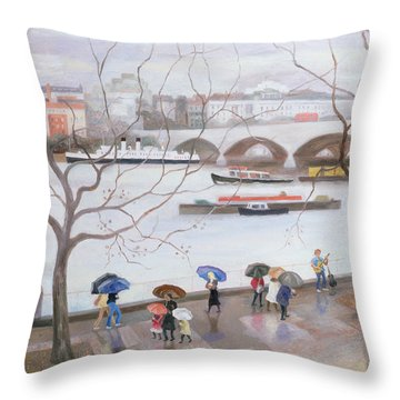 Busker Throw Pillows