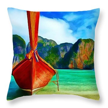 Watermarked-a Dreamy Version Collection Throw Pillow