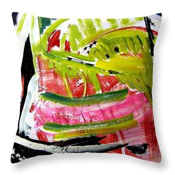 'watermelon' Throw Pillow by Carol Skinner