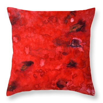 Watermelon  Throw Pillow by Zaira Dzhaubaeva